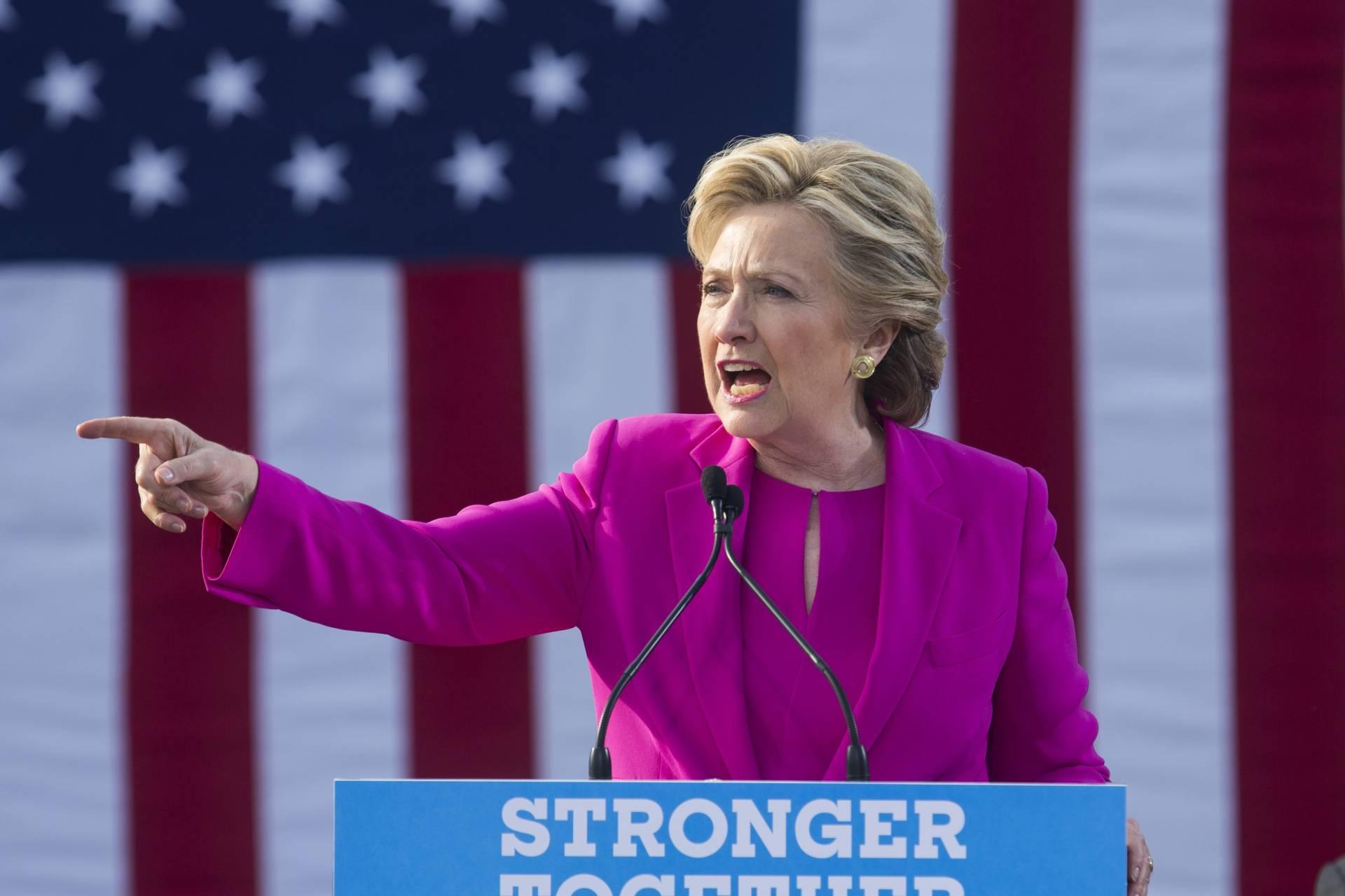 Hillary Clinton, durante un acto de campaña en Carolina del Norte.