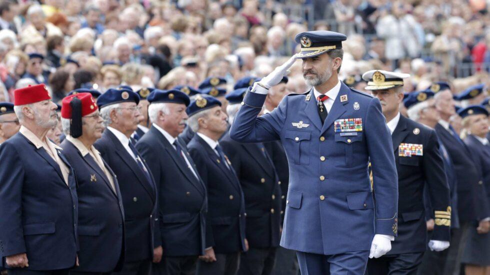 El rey Felipe VI, en el Día del Veterano de las Fuerzas Armadas y la Guardia Civil.