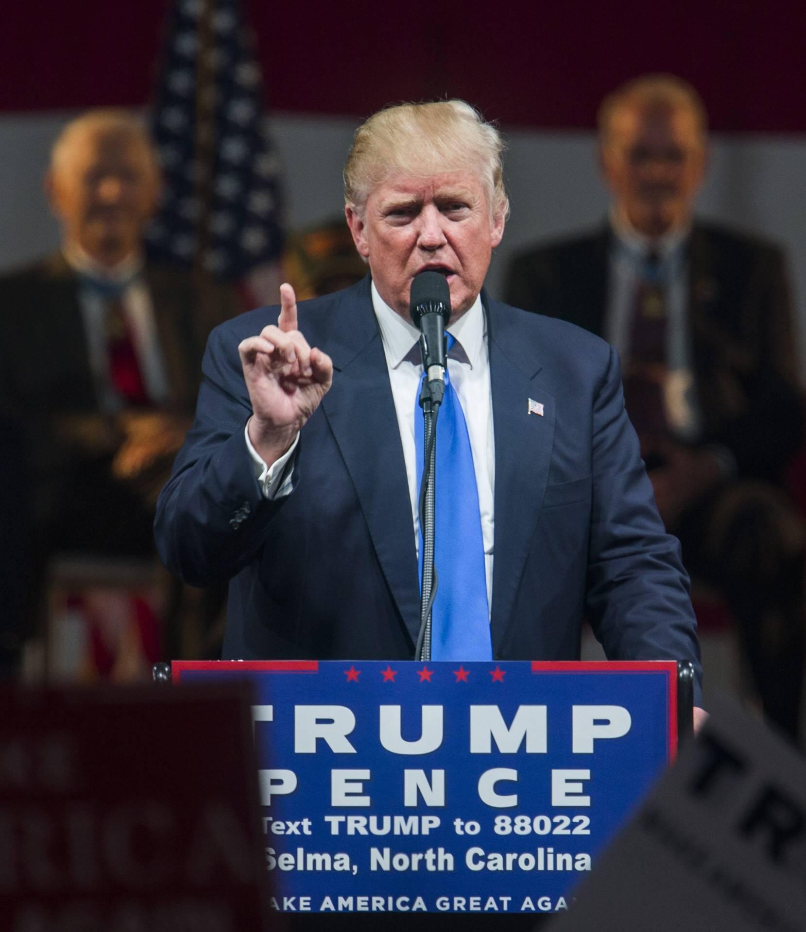Donald Trump, durante un acto de campaña en Reno, Nevada.