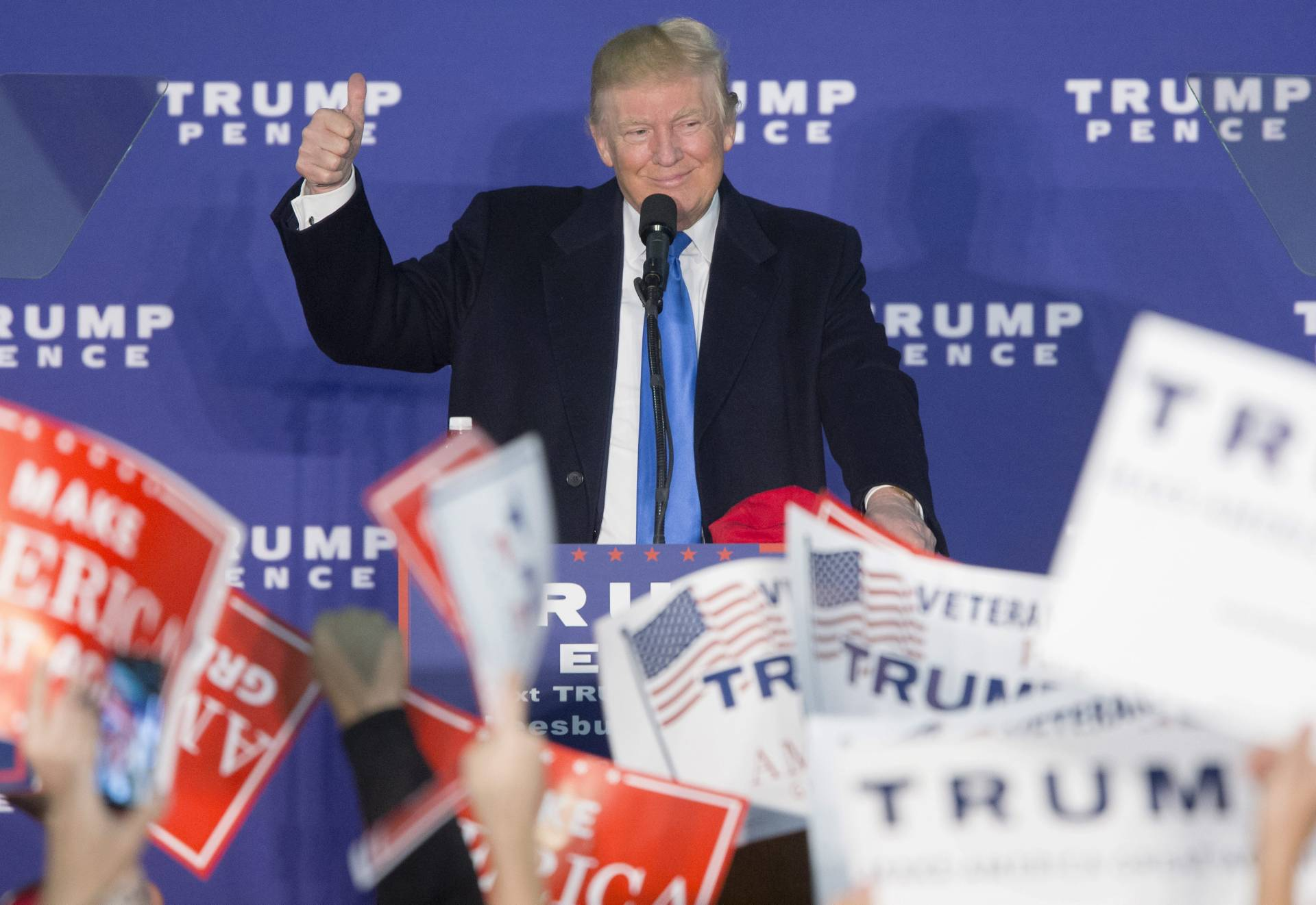 El candidato republicano, Donald Trump, en un acto de la recta final de la campaña.
