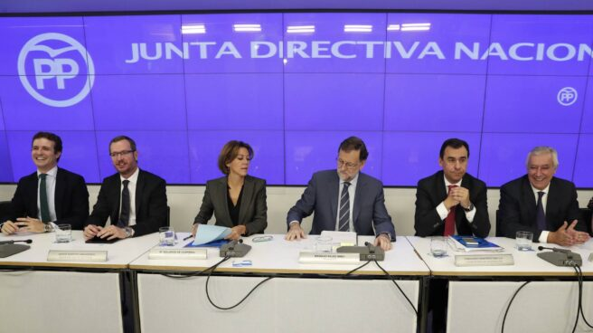 Cospedal, Rajoy y Maillo.