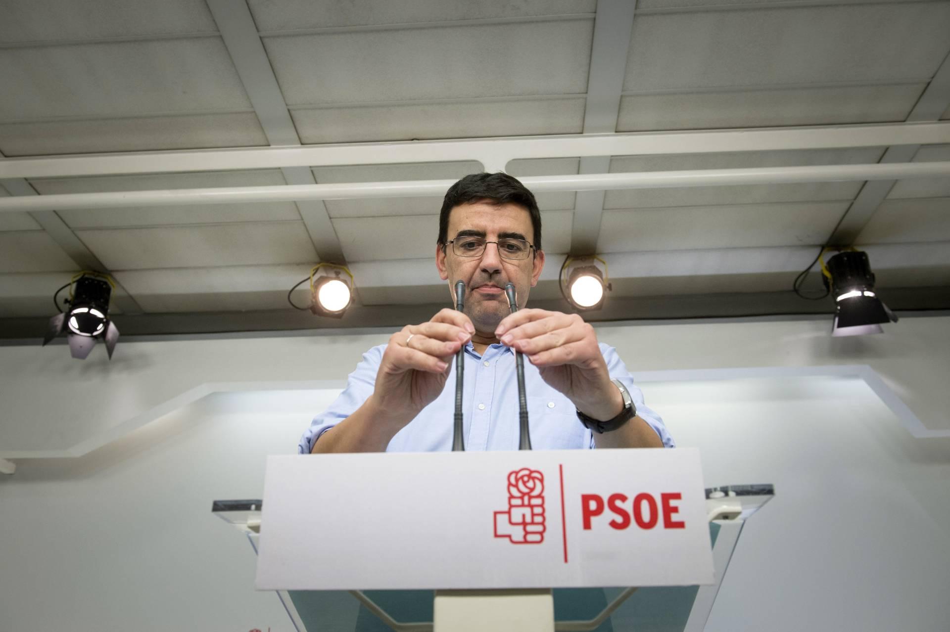 El portavoz de la gestora socialista, Mario Jiménez.