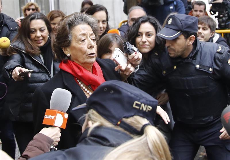 Rita Barberá, el pasado lunes, tras declarar en el Tribunal Supremo.