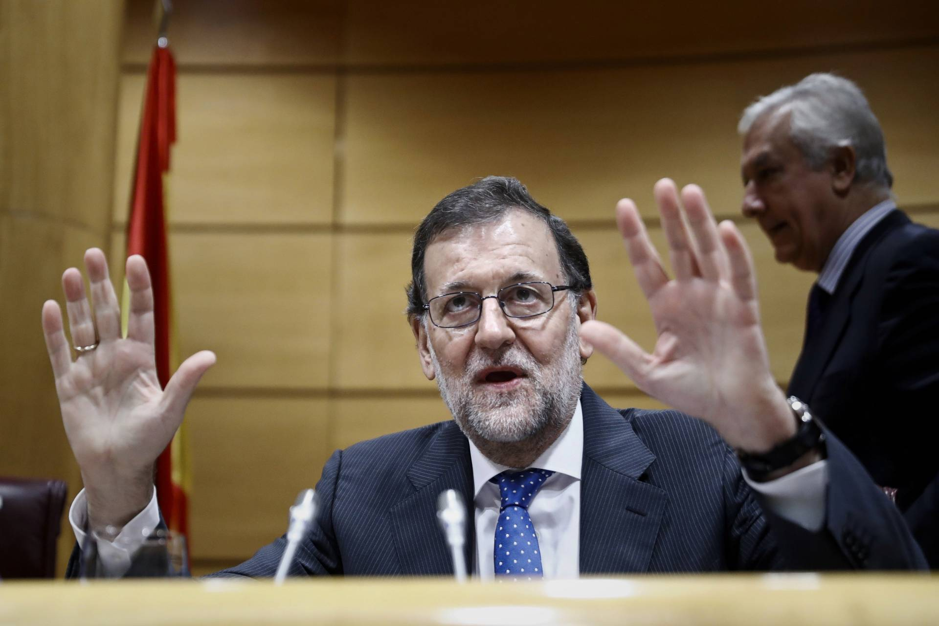 El presidente del Gobierno, Mariano Rajoy, este martes.