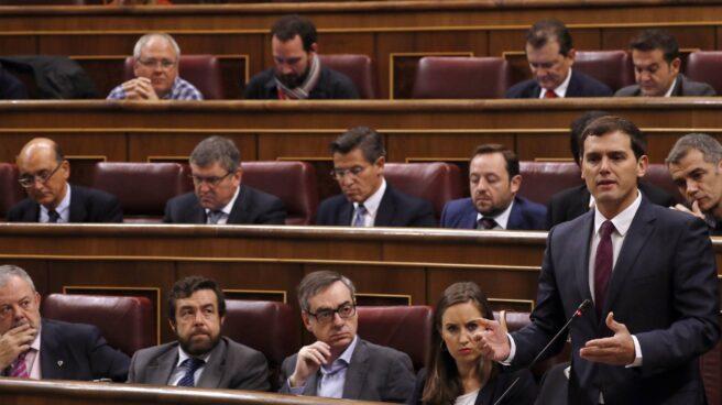 Albert Rivera, este miércoles, en el Congreso de los Diputados.