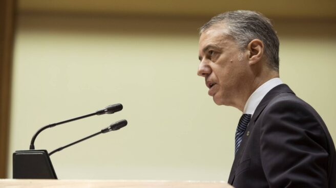 Iñigo Urkullu, durante un pleno en el Parlamento Vasco.