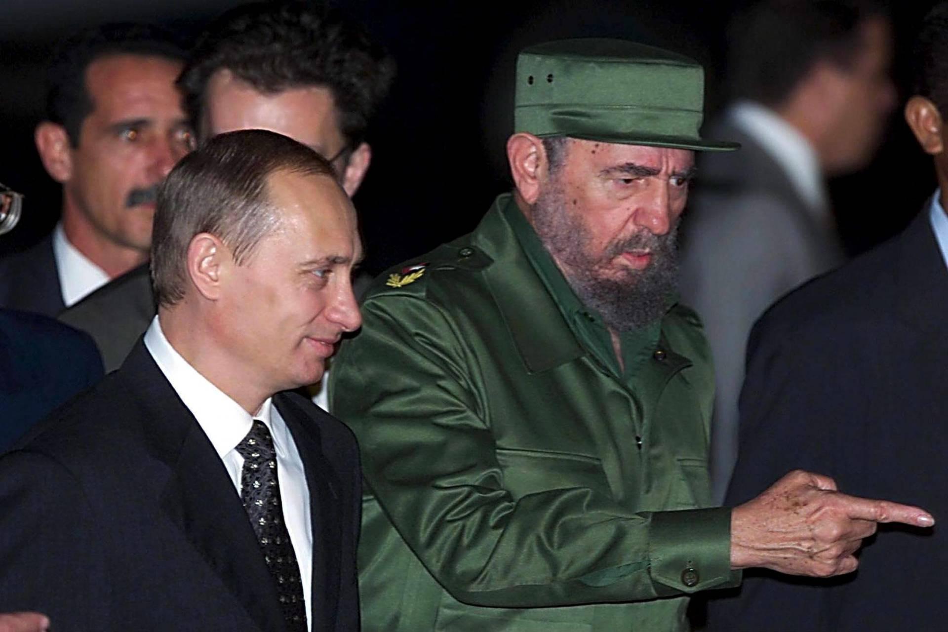 Fidel Castro y Vladimir Putin, aliados
