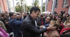 El ex secretario general de Pedro Sánchez, a su llegada a Xirivella, en Valencia.