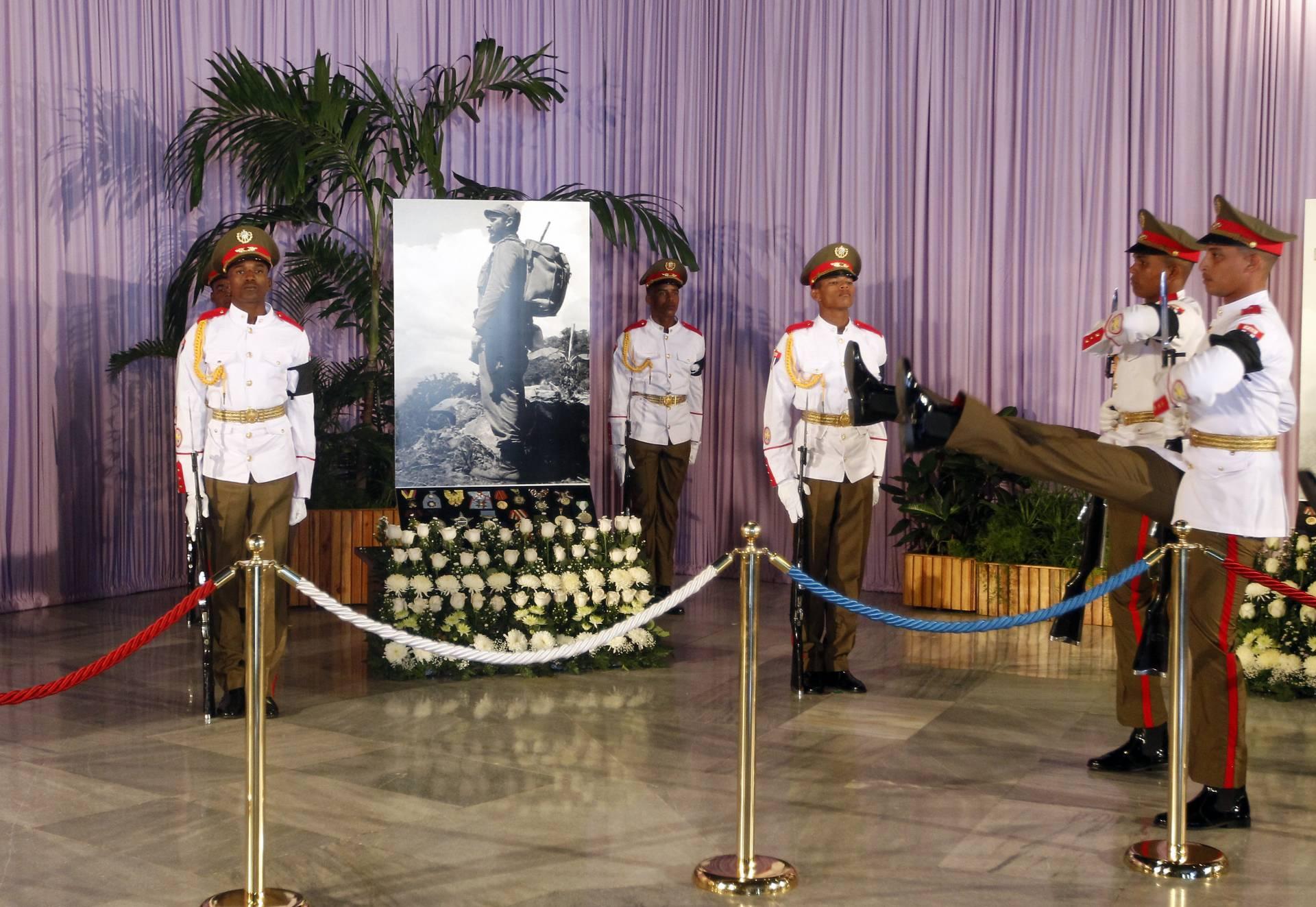 Homenaje por la muerte de Fidel Castro.