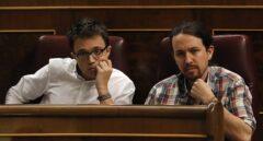 Iñigo Errejón y Pablo Iglesias, este miércoles en el Congreso.