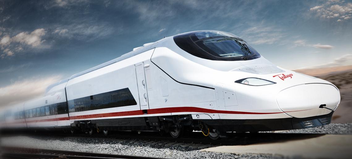 Prototipo del Avril, el tren de alta velocidad que fabricará Talgo para Renfe.