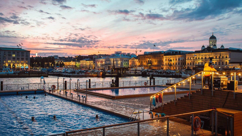 El balneario-sauna de Allas Sea Pool en Helsinki.