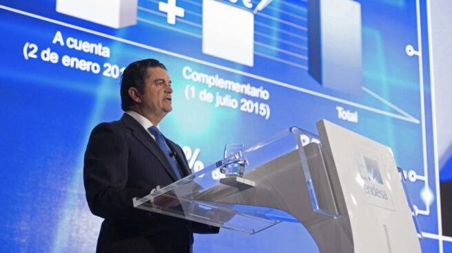 El presidente de Endesa, Borja Prado, durante una junta de accionistas de la compañía.