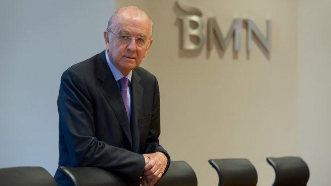 El presidente de BMN, Carlos Egea, en la sede de la entidad.