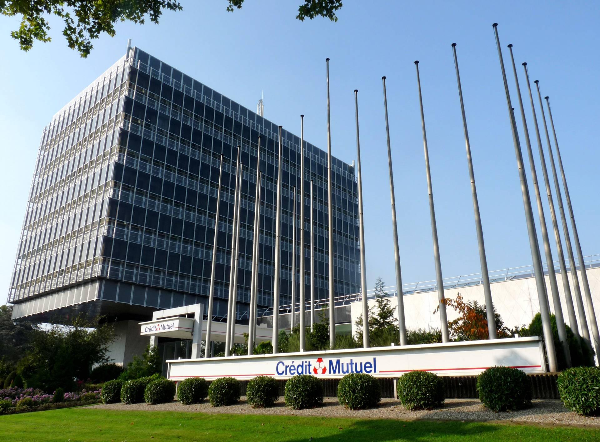Sede Cédit Mutuel en Estrasburgo.