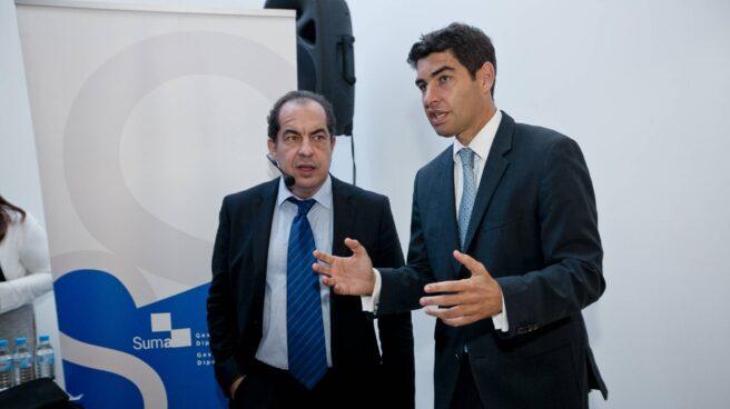 El experto en liderazgo Juan Carlos Cubeiro y el director general de SUMA, Manuel Bonilla.