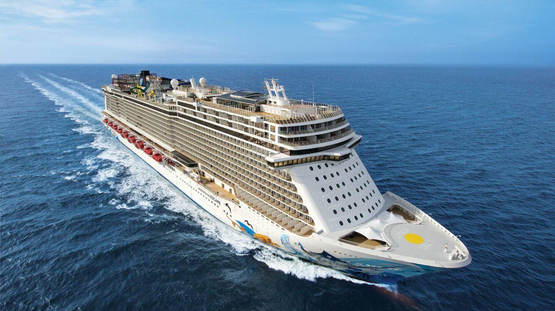 El Norwegian Escape rumbo al Caribe.