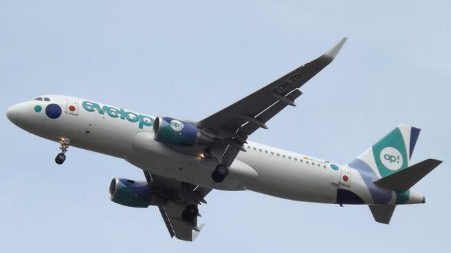 Un avión de la aerolínea Evelop, filial del grupo Barceló.