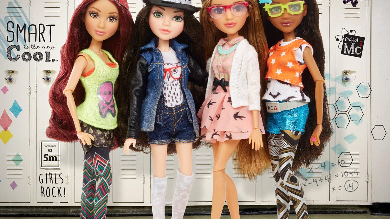 Las cuatro muñecas protagonistas del proyecto MC2.