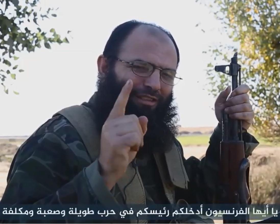 Captura de vídeo de un yihadista francés.