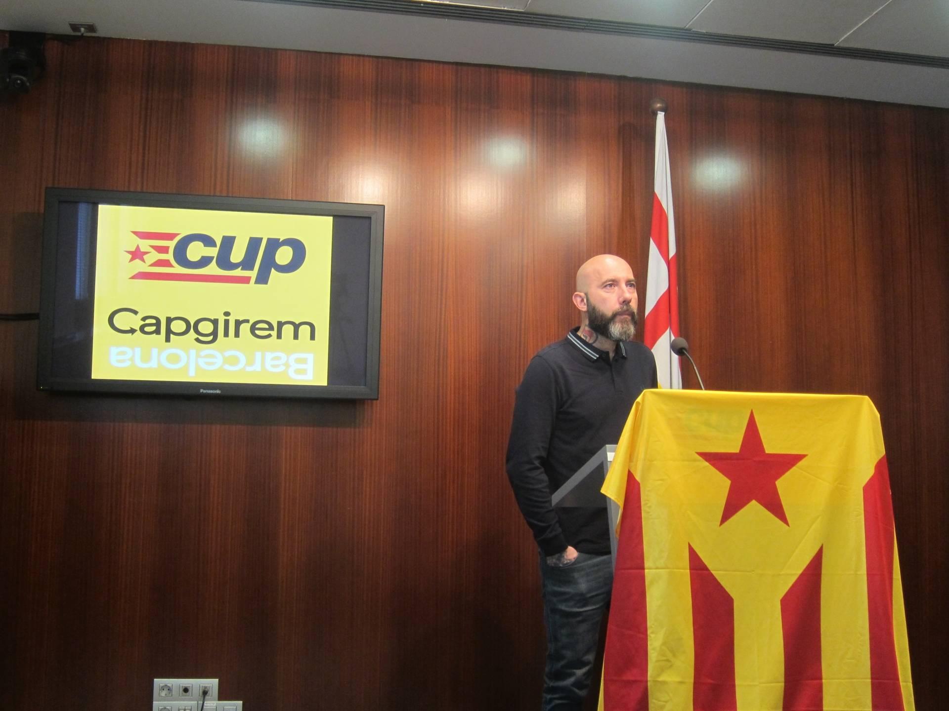 El concejal de la CUP en el Ayuntamiento de Barcelona, Josep Garganté.
