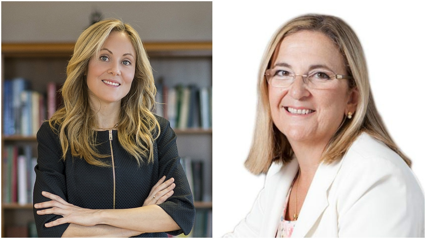 Las nuevas directora del Tesoro, Emma Navarro, y la secretaria de Estado de Economía, Irene Garrido.