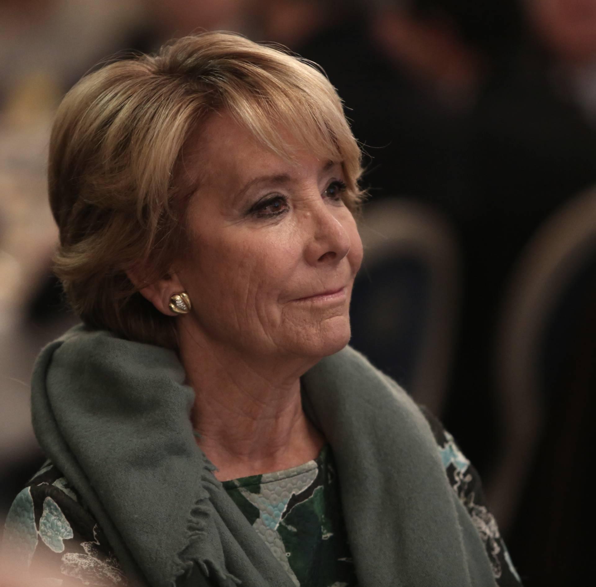 La líder del PP en la ciudad de Madrid, Esperanza Aguirre.