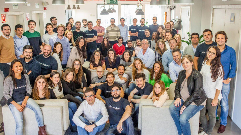 La plantilla de Jobantalent en la sede de la compañía en Madrid.