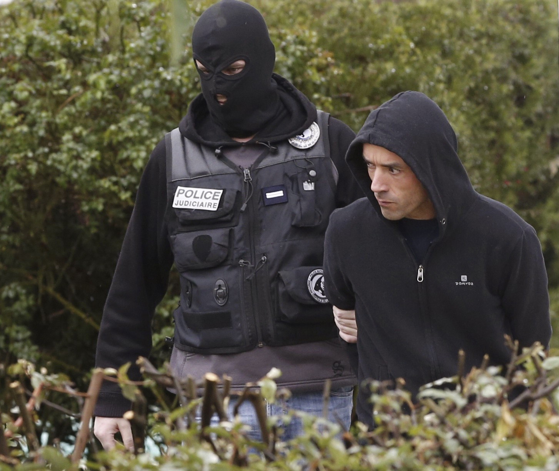 El actual líder de la organización terrorista ETA, Mikel Irastorza, tras su detención.