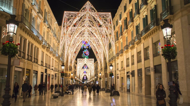 La iluminación de la calle Larios en Málaga.