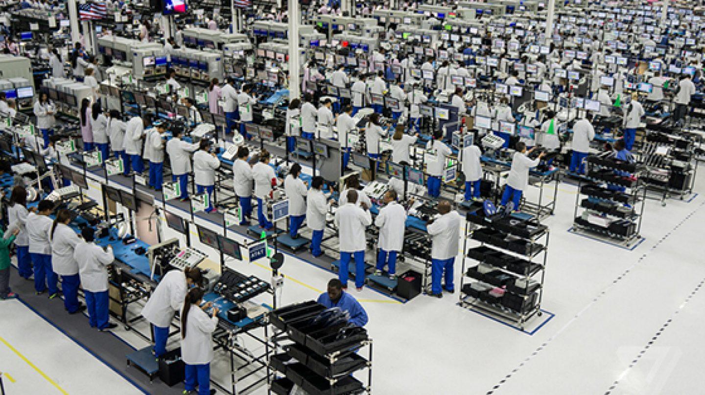 Fábrica de Motorola en Fort Worth, Texas, durante su periodo de actividad.
