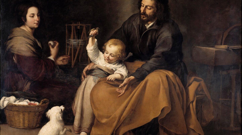 La Sagrada familia del pajarito, de Murillo. (Museo del Prado).