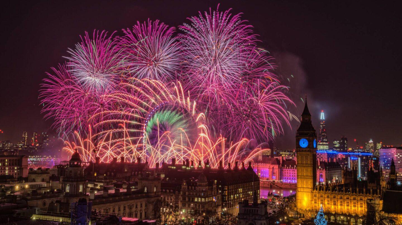 La apoteósica fiesta de Fin de Año en la City de Londres.