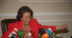 Rita Barberá, durante una comparecencia cuando era alcaldesa de Valencia.