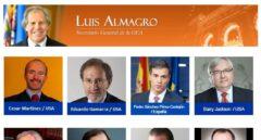 Cartel de ponentes del seminario al que acudirá Pedro Sánchez en Washington.