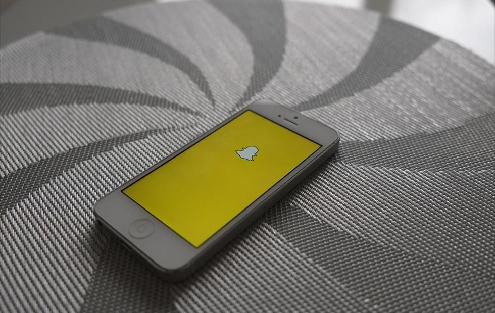 La aplicación de Snapchat, en un teléfono de un usuario.