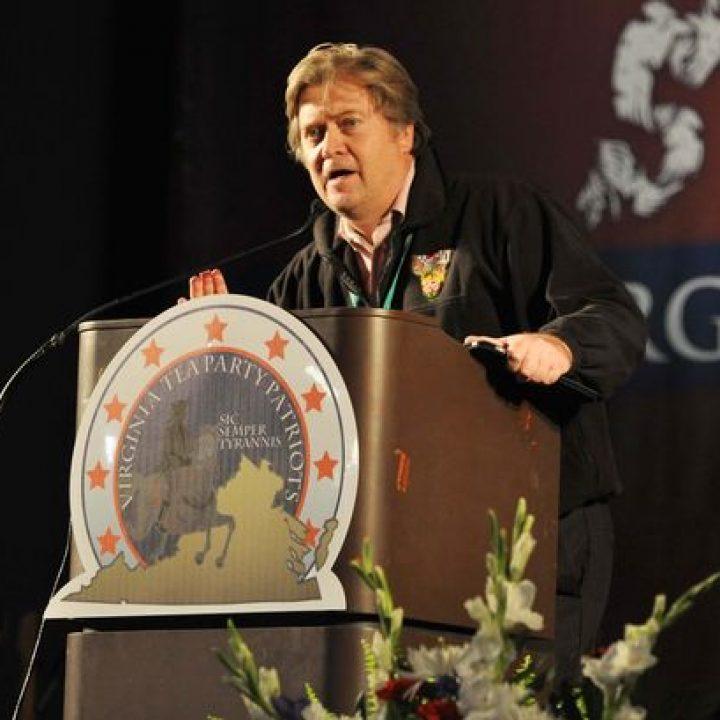 Stephen Bannon, durante una charla organizada por el Tea Party del Estado de Virginia.