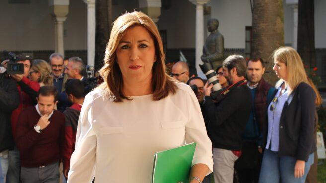 Susana Díaz, este jueves en el Parlamento andaluz.