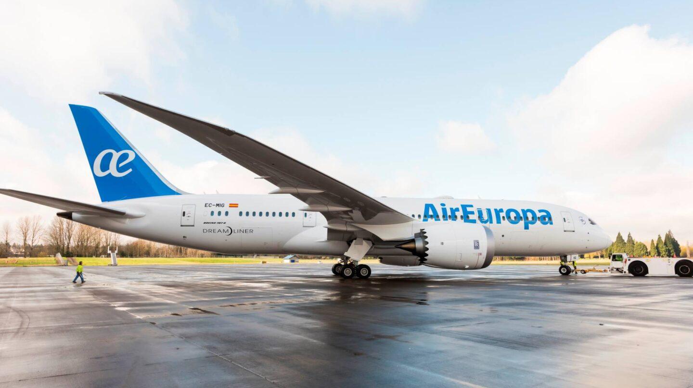 Un avión de Air Europa, la aerolínea del grupo Globalia.