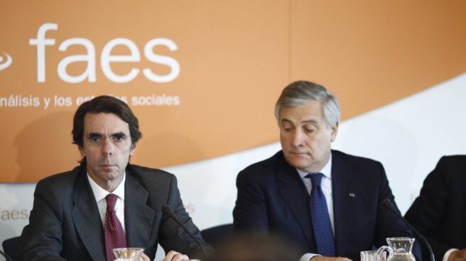 El ex presidente del Gobierno, José María Aznar, en un acto de FAES.