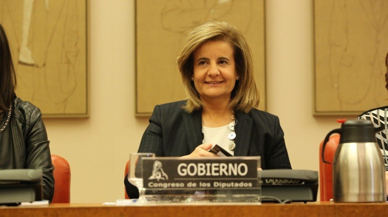 La ministra de Empleo, Fátima Báñez, durante su comparecencia ante la Comisión del Pacto de Toledo.