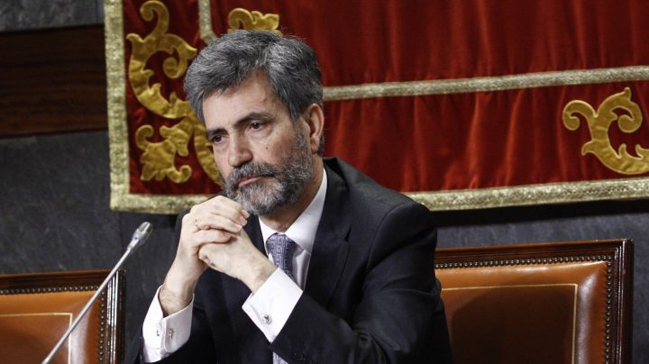 El presidente del Consejo General del Poder Judicial (CGPJ), Carlos Lesmes.,