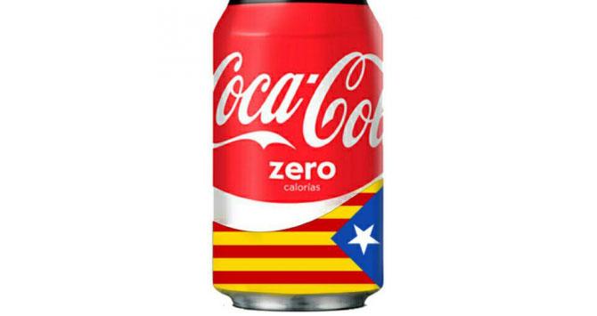 Imagen de la Coca Cola 'independentista'.