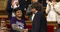 Carles Puigdemont y Anna Gabriel.