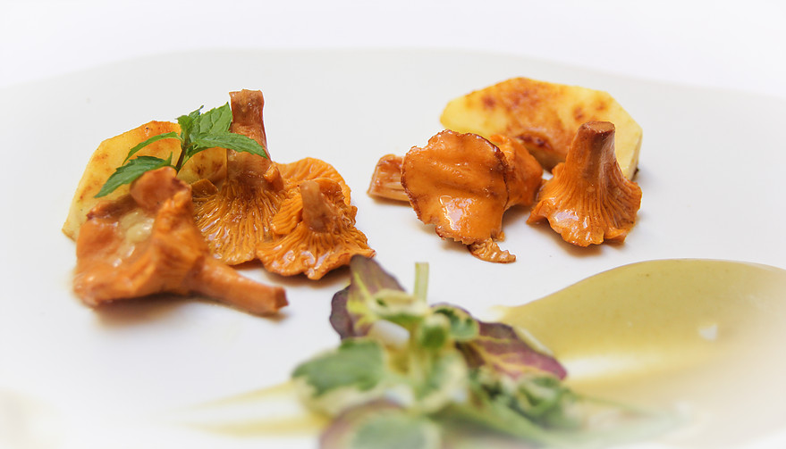 Uno de los platos con setas de Casa Vallecas.