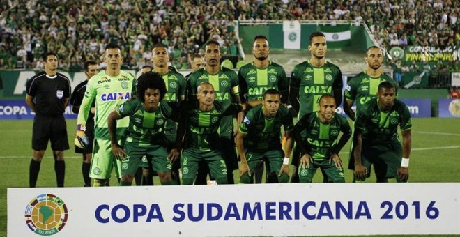Los jugadores del Chapecoense.