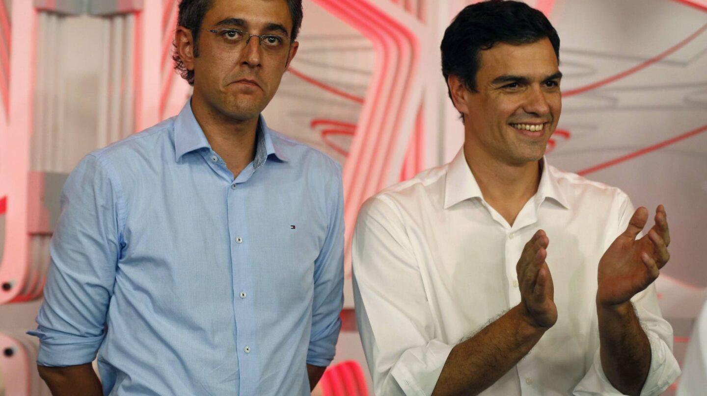 Eduardo Madina y Pedro Sánchez