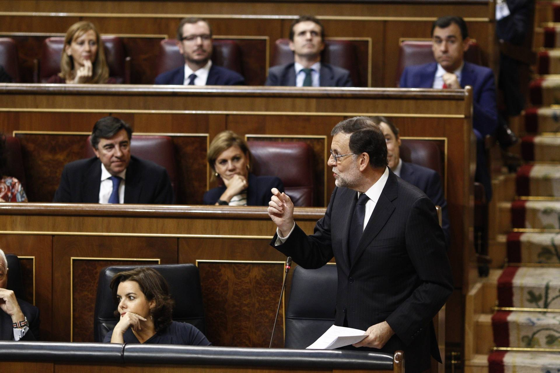 Mariano Rajoy, en el Hemiciclo.
