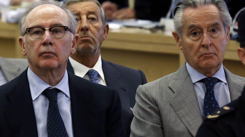 Rodrigo Rato y Miguel Blesa, en el juicio de las tarjetas black.