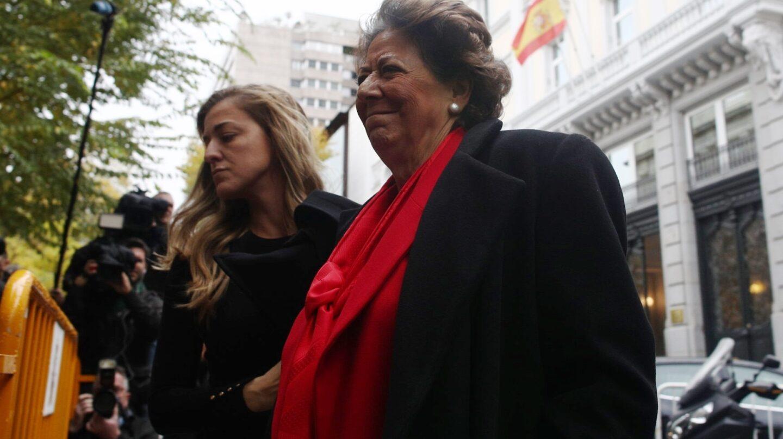 Rita Barbera, acudiendo a su última declaración ante el Supremo.